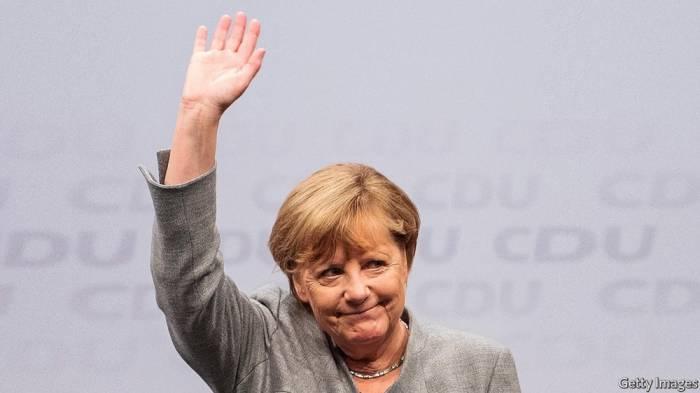 Angela Merkel seçkidə qələbə qazandı