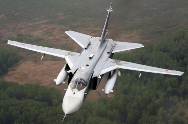 Russian Su-24 jet crashes at air base in Syria, crew dies