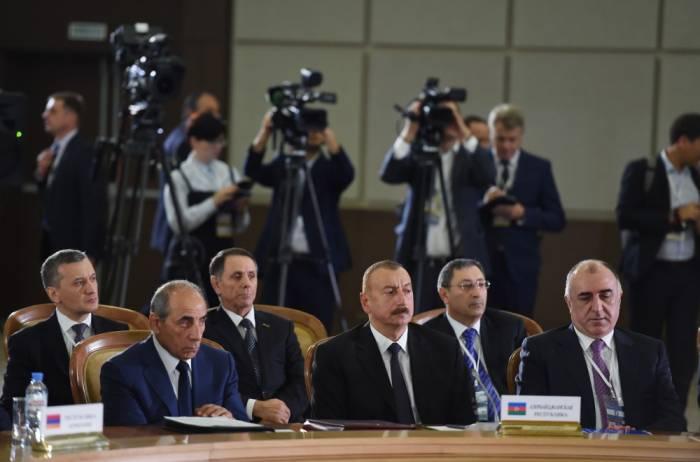 Sitzung von GUS-Staatsoberhäuptern im erweiterten Format in Sotschi