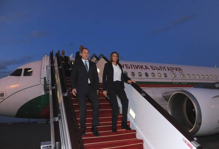 Bulgarian president arrives in Azerbaijan - PHOTOS