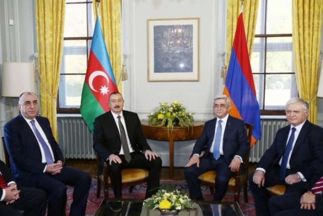 Azerbaijani, Armenian presidents meet in Geneva - PHOTOS