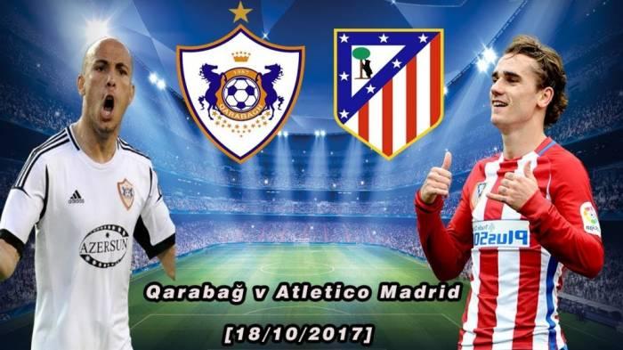 Dritte Runde der Gruppenphase der Champions League: FC Karabach Agdam trifft daheim auf FC Atlético Madrid