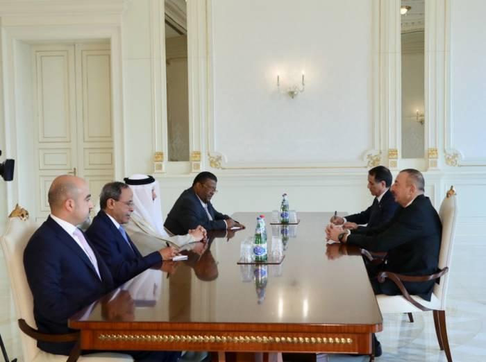 Ilham Aliyev a reçu une délégation du Conseil de coopération des Etats arabes du Golfe