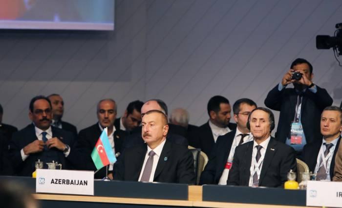 Prezident D-8 Zirvəsində çıxış edib - FOTOLAR (YENİLƏNİB)