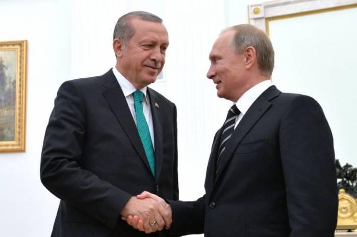 Putin Ərdoğanla Suriyanı müzakirə edib