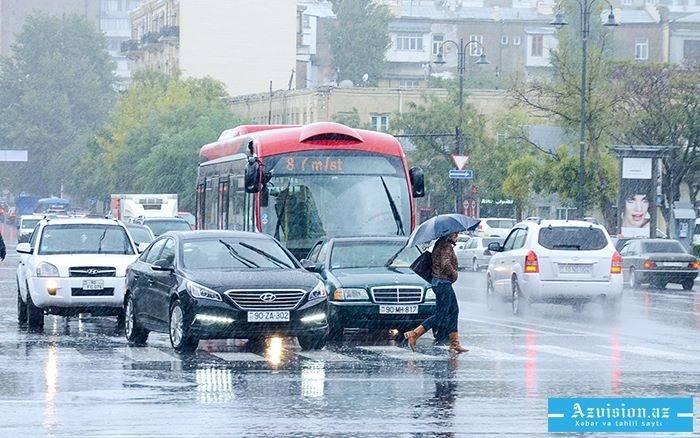 İstirahət günü yağış yağacaq - Proqnoz