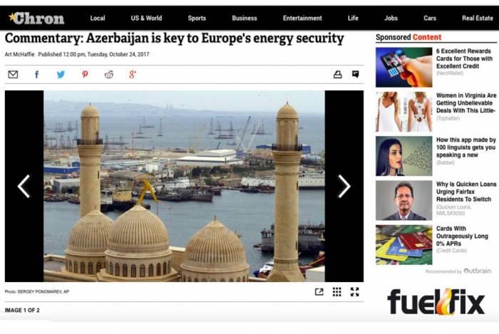 """""""Houston Chronicle"""": Aserbaidschan ist Schlüssel zu Europas Energiesicherheit"""