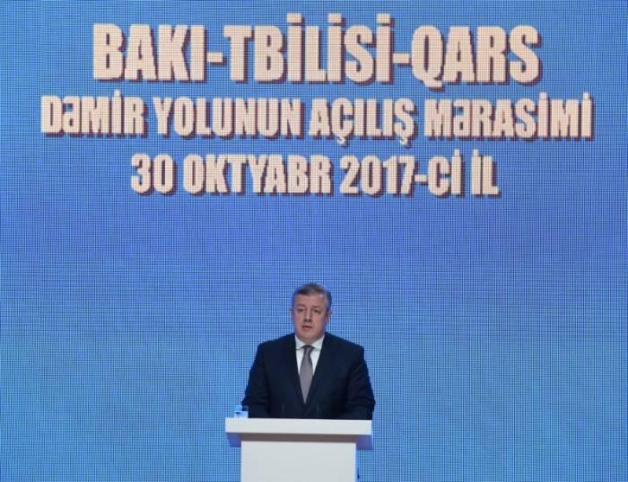 """Giorgi Kvirikaşvili: """"Bakı-Tbilisi-Qars layihəsi iqtisadi reallığı dəyişəcək"""""""