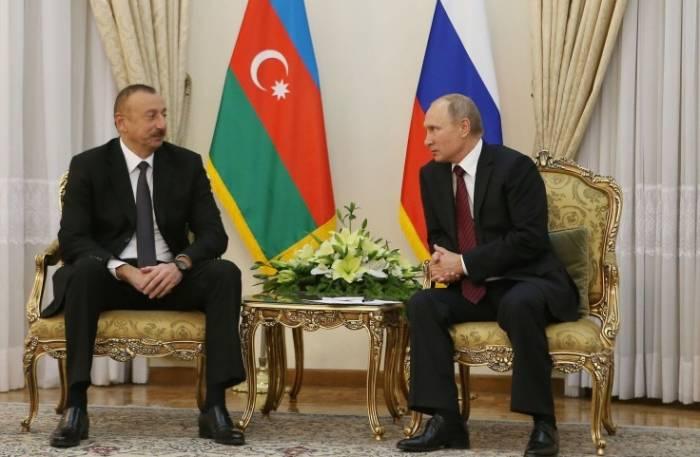 """""""Azərbaycanla münasibətlərimiz strateji xarakter daşıyır"""" - Putin"""