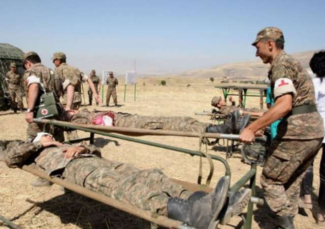 Anti-tank grenade blows up killing one and wounding two Armenian soldiers