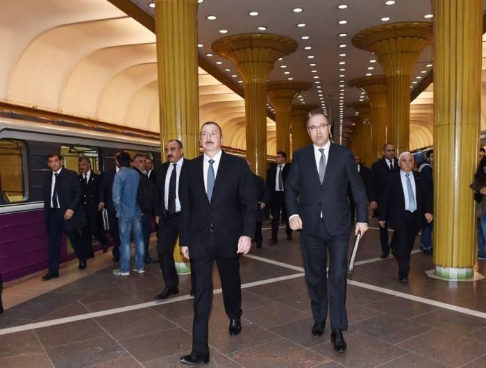 """İlham Əliyev: """"Bakı Metropoliteni yenidən qurulacaq"""""""