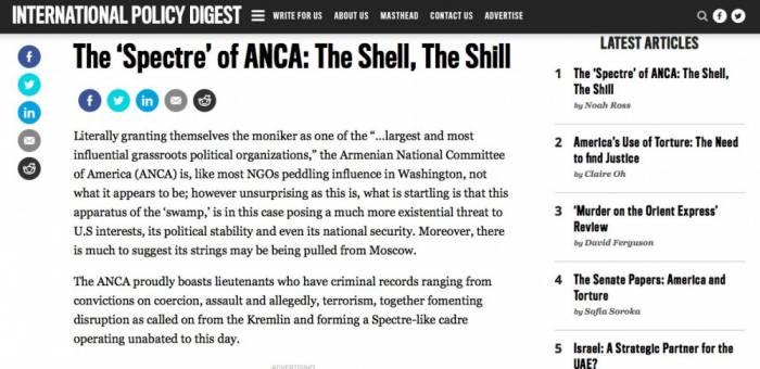 ABŞ-ın nüfuzlu nəşri erməni lobbisinin çirkin əməllərini ifşa etdi