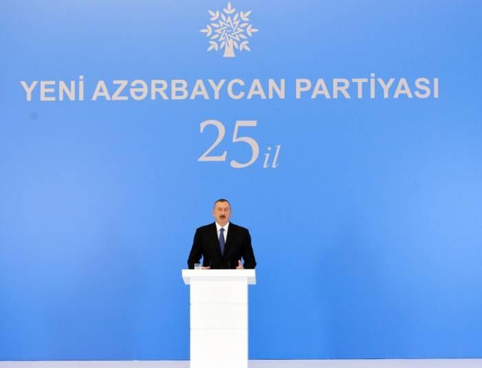 Prezident YAP-ın yubiley mərasimində - FOTOLAR