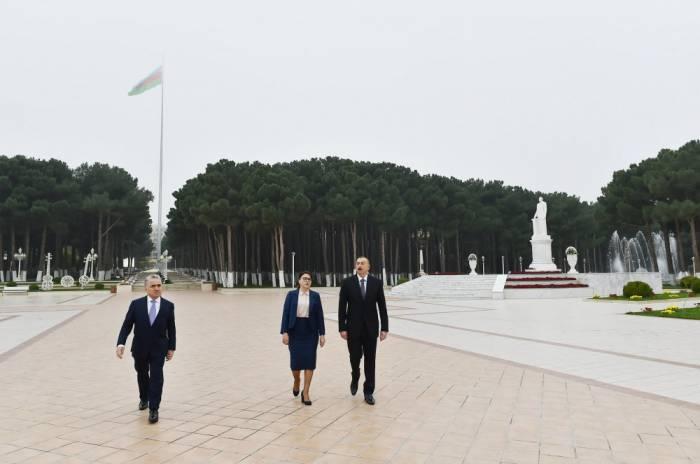 Prezident Abşeronda səfərdədir - FOTOLAR (Yenilənib)