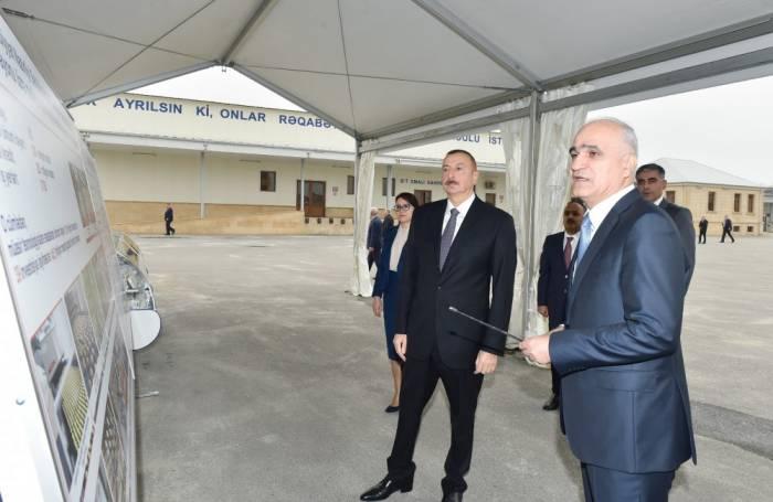 """Prezident """"Zəhmət-Ruzi""""nin fəaliyyəti ilə tanış olub - Fotolar"""