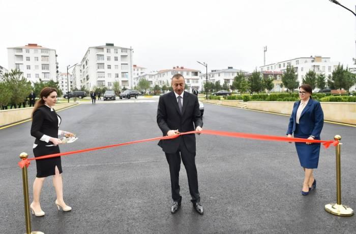 İlham Əliyev Masazırda məktəb açılışında - FOTOLAR