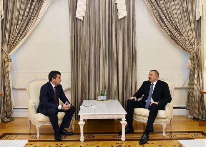 Ilham Aliyev a reçu le vice-Premier ministre ouzbek