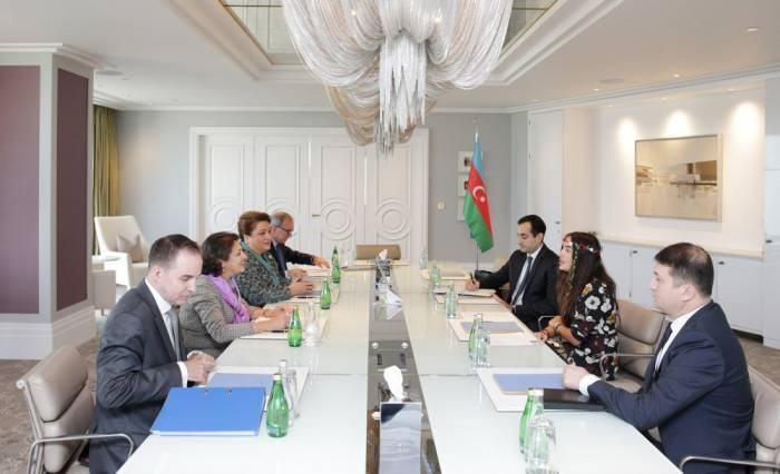 Leyla Aliyeva trifft sich mit UNICEF-Regionaldirektorin