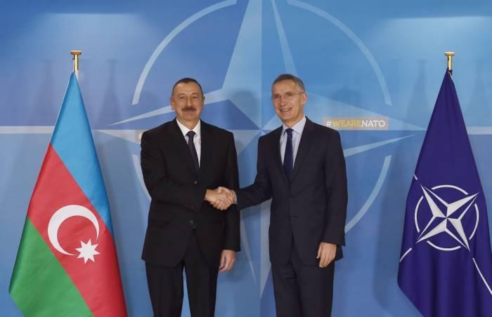 Prezident NATO baş katibini Azərbaycana dəvət edib - FOTOLAR+VİDEO