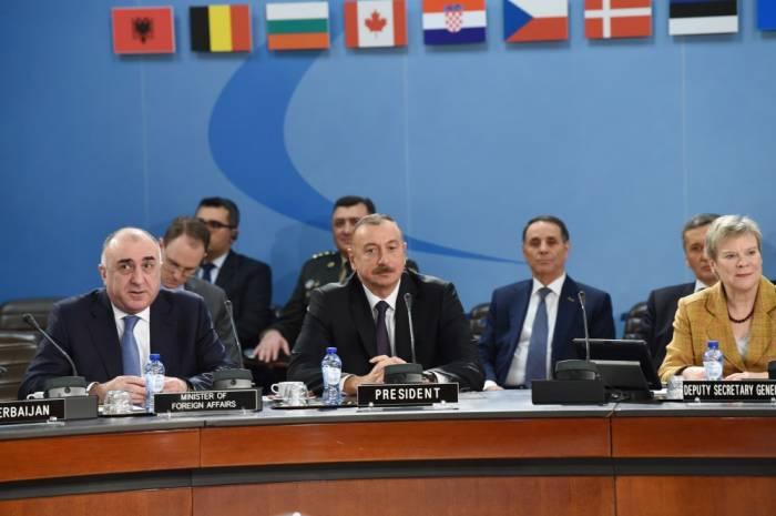 İlham Əliyev NATO-nun Şimali Atlantika Şurasının iclasında - Yenilənib (FOTOLAR)