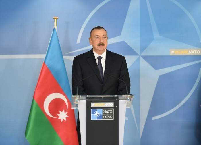 """İlham Əliyev: """"NATO ilə əməkdaşlığın böyük potensialı var"""""""