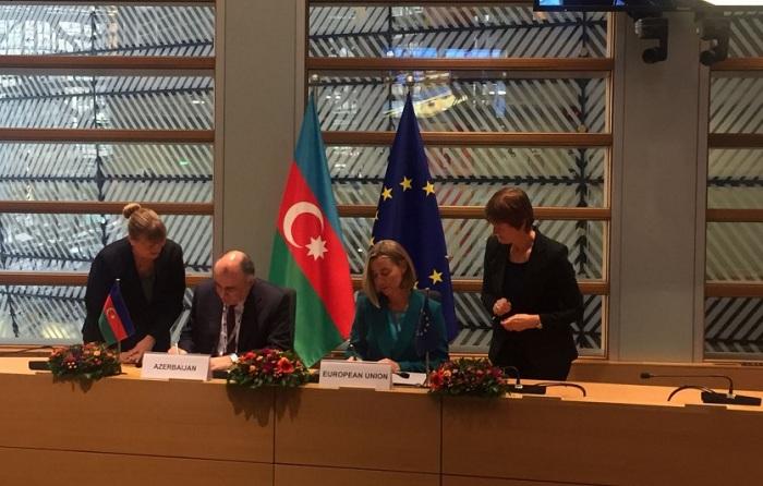 Azərbaycanla Avropa İttifaqı arasında sənəd imzalandı