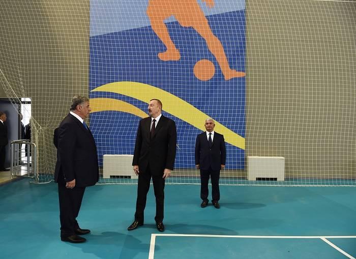 Prezident Olimpiya İdman Kompleksinin açılışında