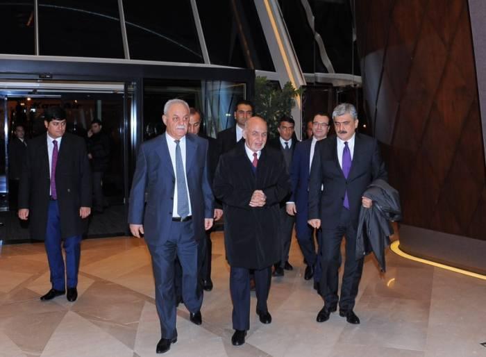 Əfqanıstan prezidenti Azərbaycana gəlib - Fotolar