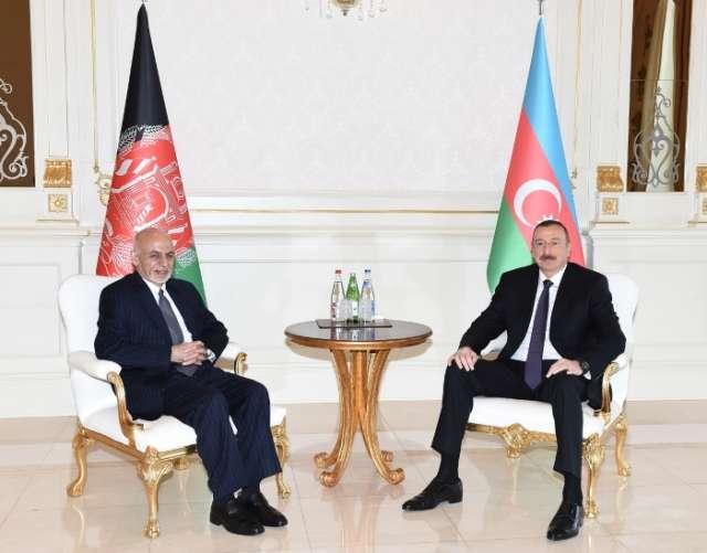 Azerbaijani President recieves Afghan president - PHOTOS