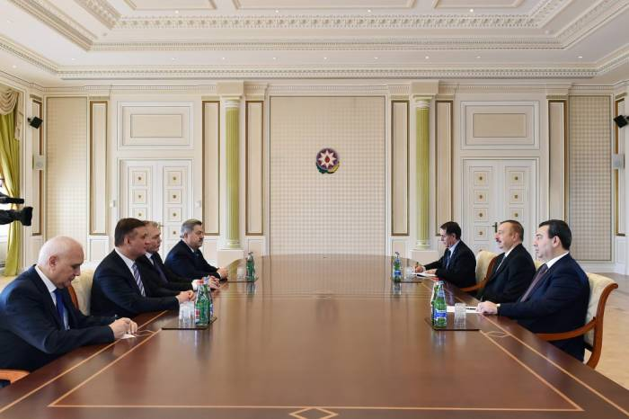 Leonid Kalaşnikov İlham Əliyevin qəbulunda -