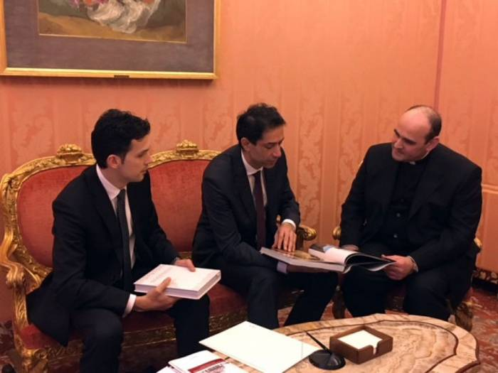 L'ambassadeur d'Azerbaïdjan remet ses lettres de créance à l'assesseur au Secrétariat d'Etat du Saint-Siège