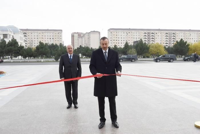 Für Stadtorganisation der Partei Neues Aserbaidschan in Sumagait neues Verwaltungsgebäude gebaut