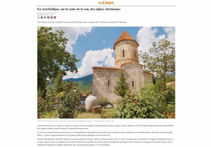Le site français «La Croix» publie un article sur des églises chrétiennes en Azerbaïdjan