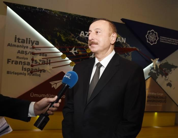 """""""Bakutel-2017""""dən reportaj: Prezident """"Euronews""""un sualını cavablandırıb"""