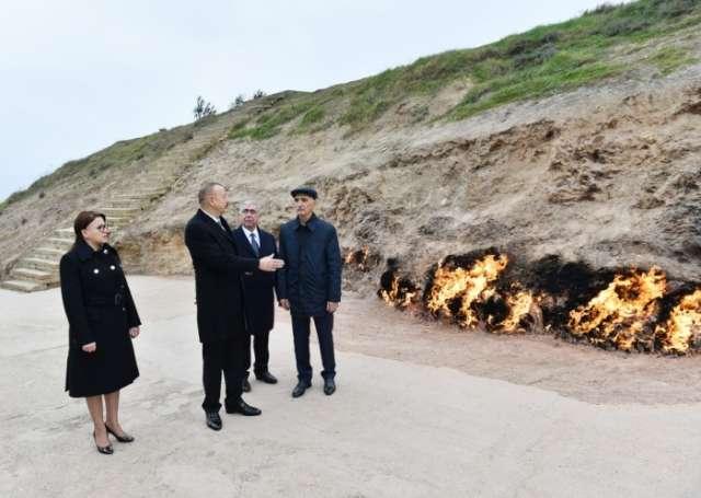 """Azerbaijani president visits """"Yanardag"""" reserve"""