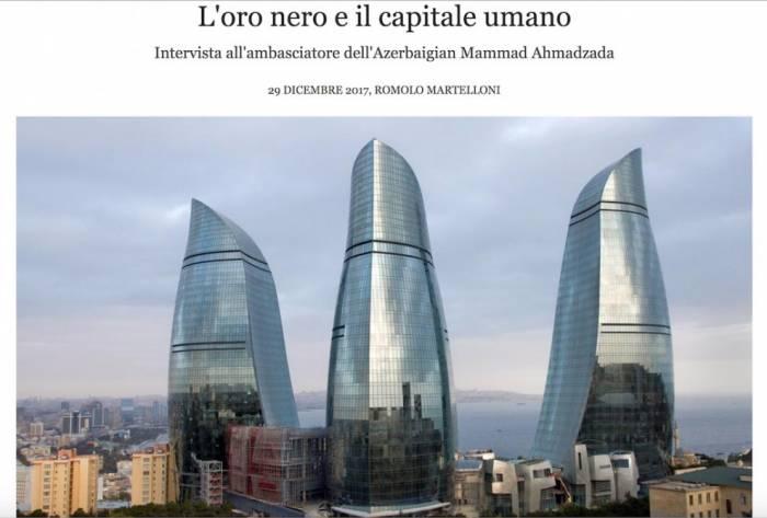 """""""Wall Street International"""" jurnalı Azərbaycandan yazıb"""