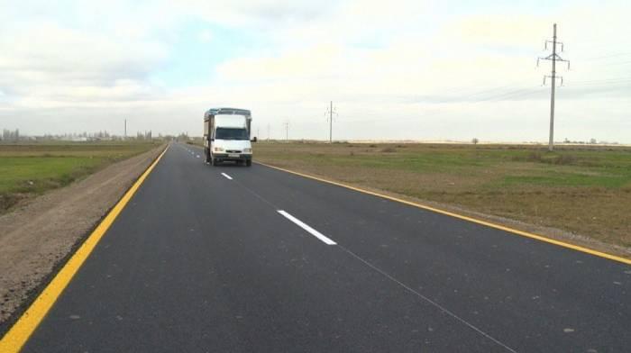 Biləsuvarda 26 km yol təmir olunub