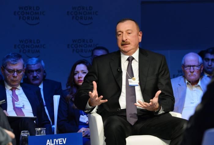 Prezident Davos Forumunda nələrdən danışdı? - TAM MƏTN