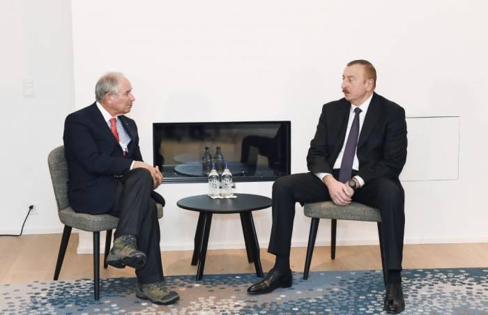 İlham Əliyevin Davosda görüşləri davam edir - Yenilənib