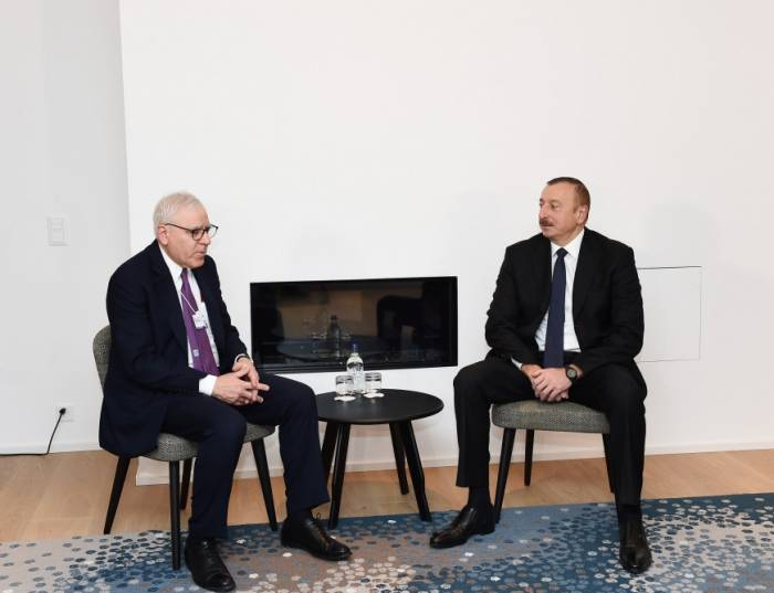 İlham Əliyev Davosda Rubinşteyn ilə görüşüb - Yenilənib