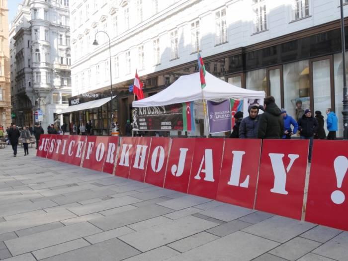 Xocalı soyqırımı ilə bağlı Vyanada aksiya keçirilib