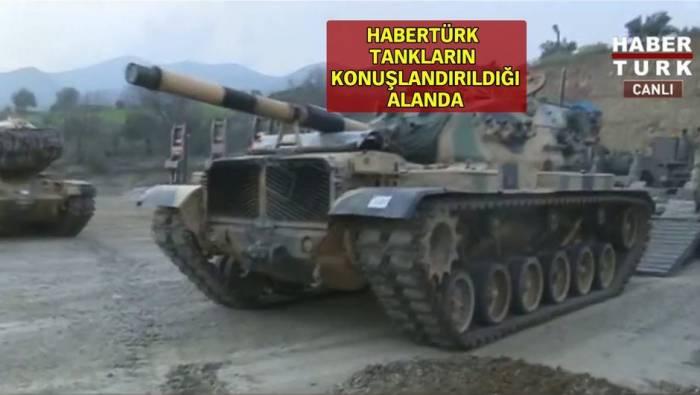 Afrin əməliyyatı: Tanklar hazır vəziyyətə gətirildi
