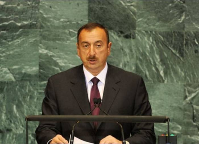Ilham Aliyev abordó Karabaj en ONU-Video
