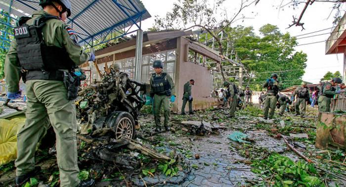 Explosión en una carretera en Tailandia se salda con varios militares muerto