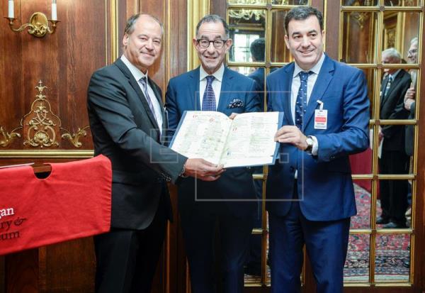 Un pergamino de Vindel regresa a España ocho siglos después de ser escrito
