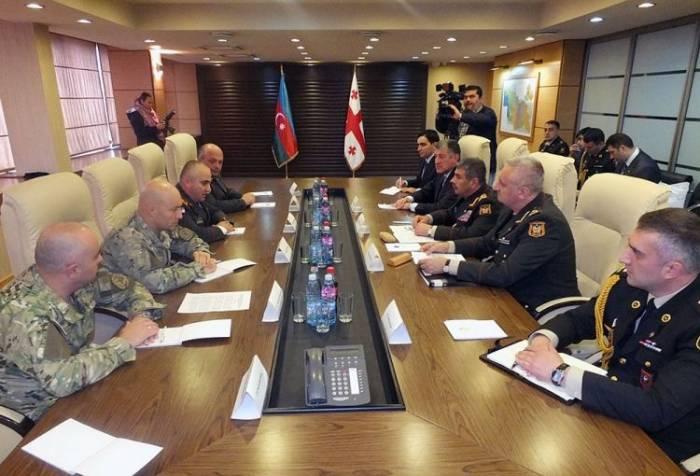 Zakir Hasanov se reunió con el jefe del Secretario General de Georgia Foto