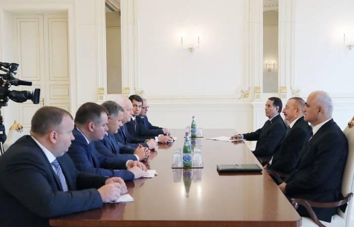 Ilham Aliyev admitió al ministro ucraniano