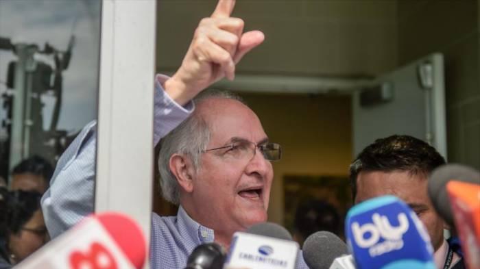 Opositor venezolano Ledezma llega a Madrid procedente de Colombia