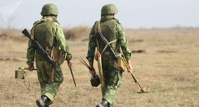 Zapadores rusos continuan el desminado en el territorio de Siria