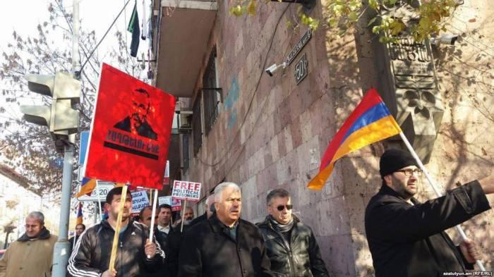 Acción de protesta ante la oficina de la ONU y el Consejo de Europa en Ereván